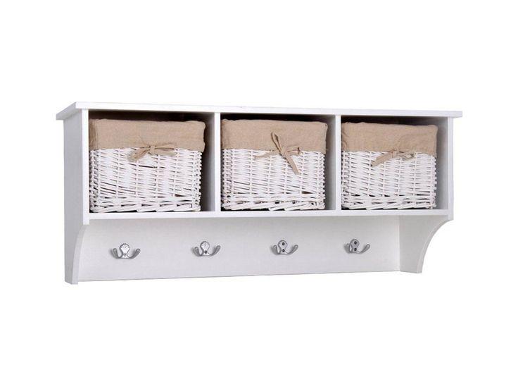 MAXIMUS Vägghylla med korgar Vit i gruppen Inomhus / Förvaring / Hallmöbler hos Furniturebox (100-41-63537)