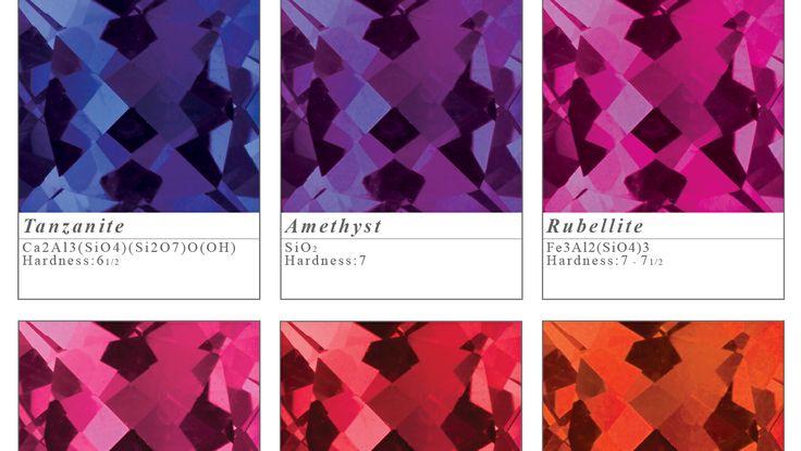 Pick your colour! Tanzanite, amethyst, rubellite, pink sapphire, spinel and orange sapphire.