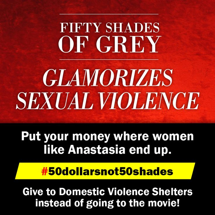 Boycott #fiftyshadesofgrey and give instead to a domestic violence shelter! This is where women like Ana end up in real life. #fiftyshadesisabuse #50dollarsnot50shades