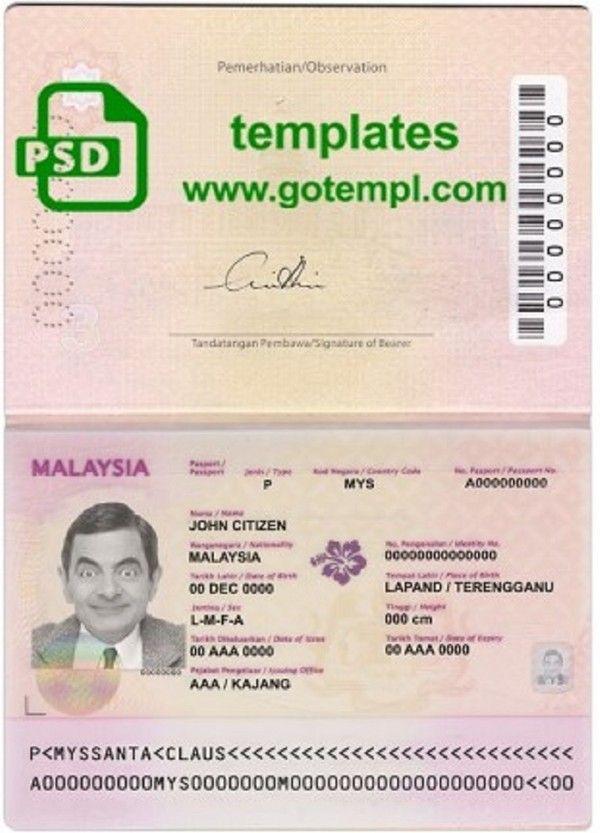 Passport Gotempl Passport Template Passport Templates