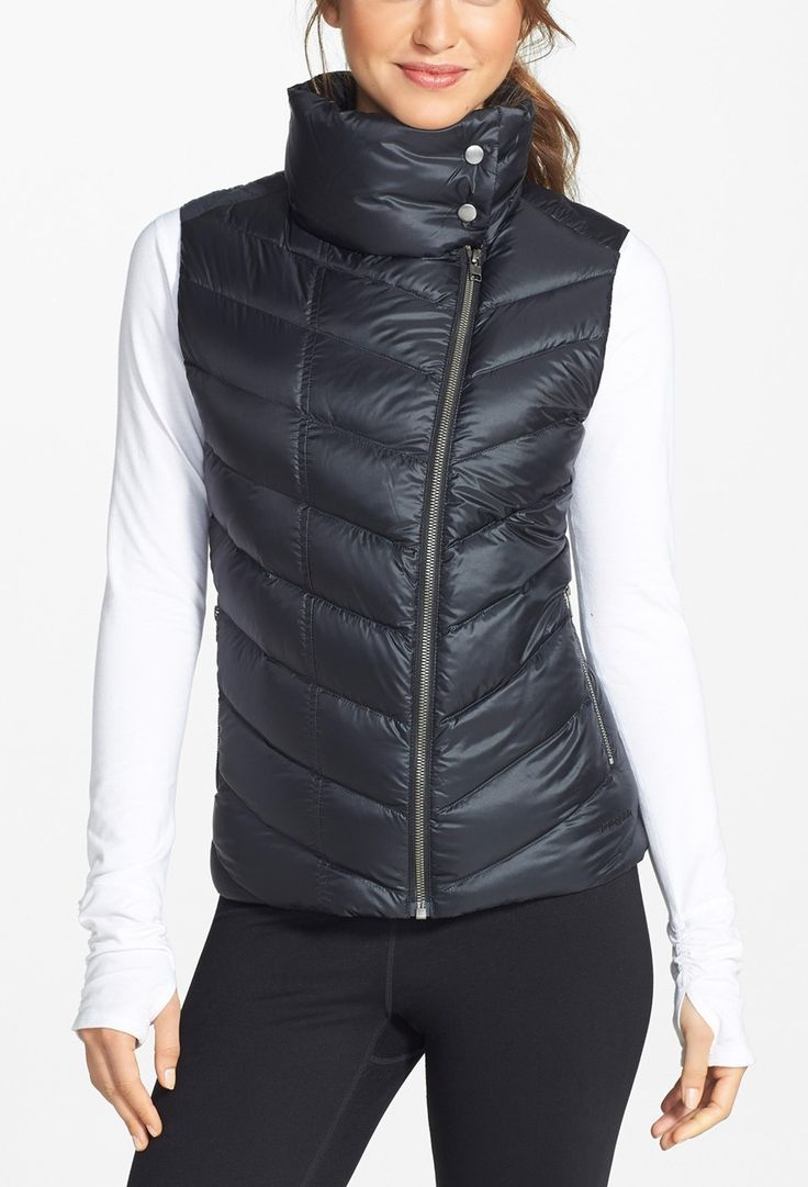 Athletic puffer vest for the winter workout.