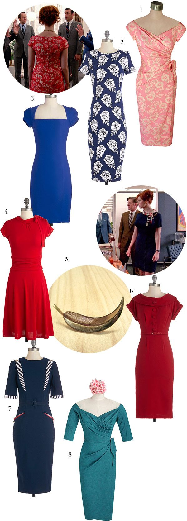 Vintage fashion blog 60s,  Joan's Style from Mad Men Season 7 via WeeBirdy.com