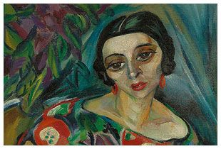 Portait of Wanda Coustas by Irma Stern , South African artist (1894-1966)