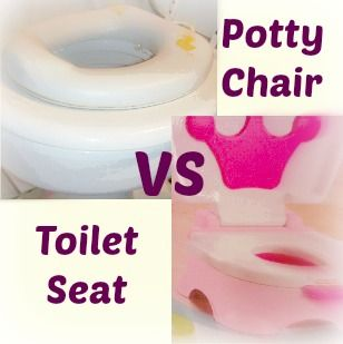 Love this page! Helps settle the debate if a potty chair or a toilet seat insert is the best way to potty train your child. No right answer for everyone, but gives pros and cons of each!