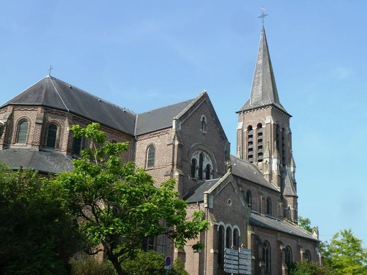 L'église Saint-Martin . Feignies. Nord