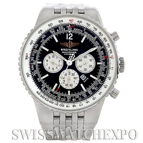 the major innovation for breitling occurred in 1969, when they invented the first ever automatic winding mechanism, in conjunction with Buren and Heuer-Leonidas.    Breitling Navitimer Heritage Mens Watch A35340