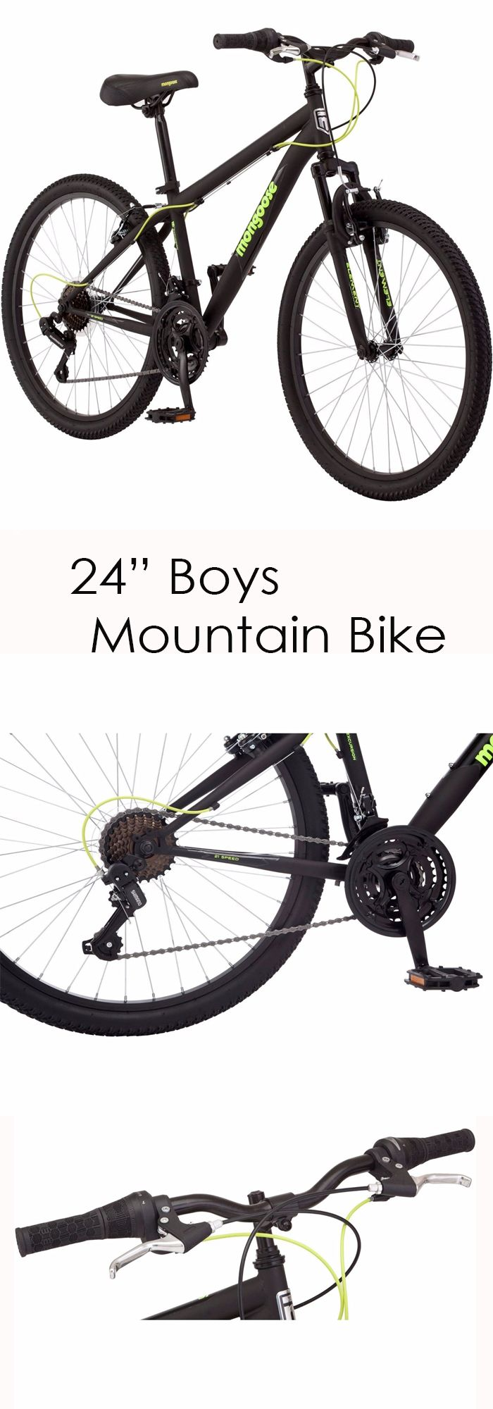 "In Stock - $177.99  24"" Boys Mountain Bike For Kids"