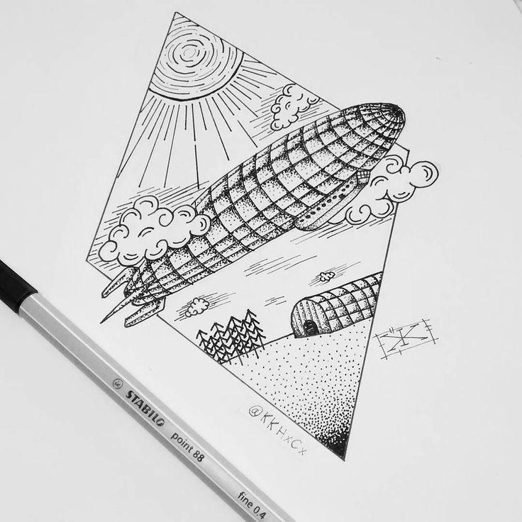 21 best tattoos airship dirigible hot air balloon