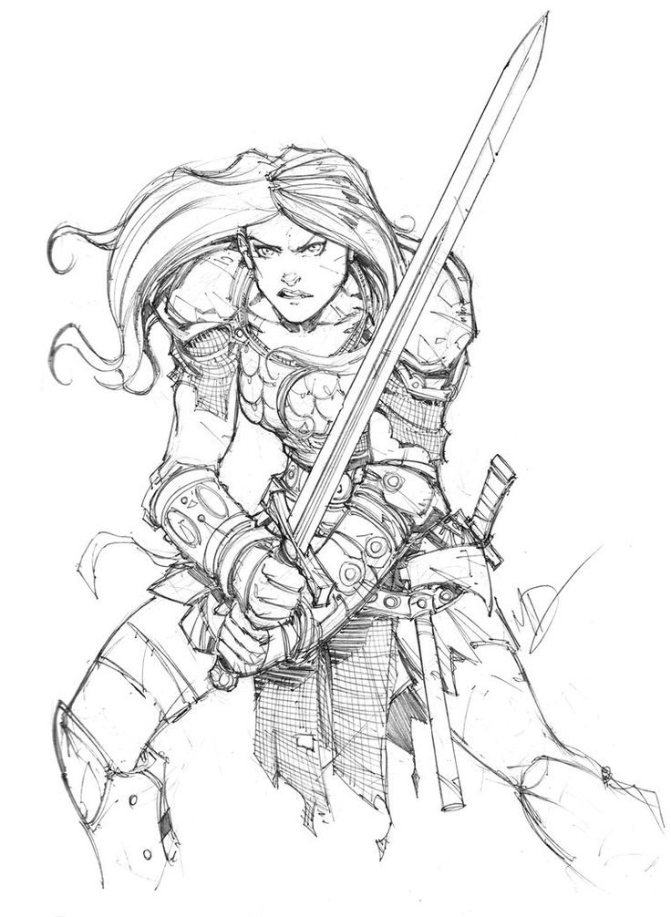 Red Sonja Sketch by Max-Dunbar on deviantART