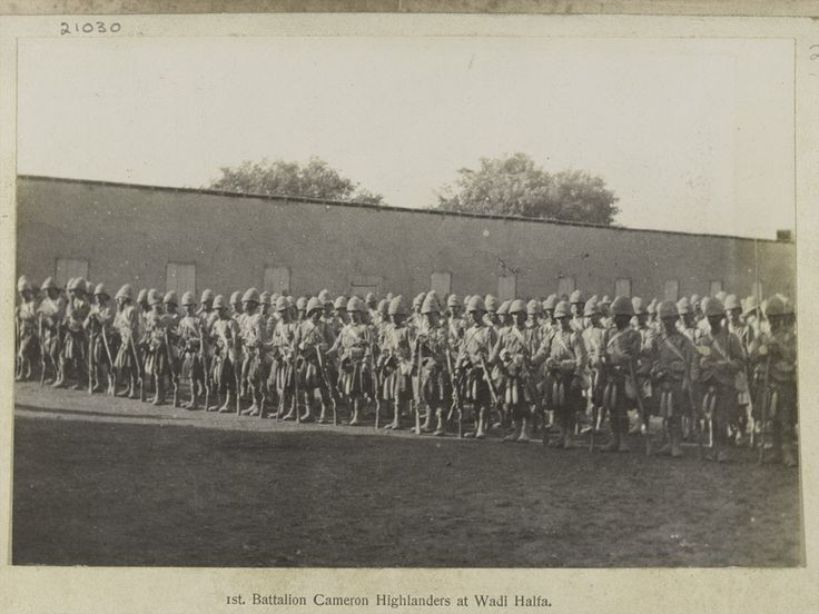 1st Battalion The Queen's Own Cameron Highlanders at Wadi Halfa, 1897 (c).