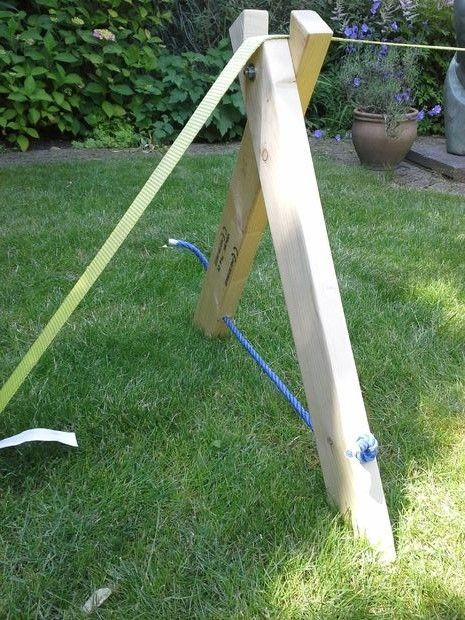 a-frame for slackline Next summer this will be happening!