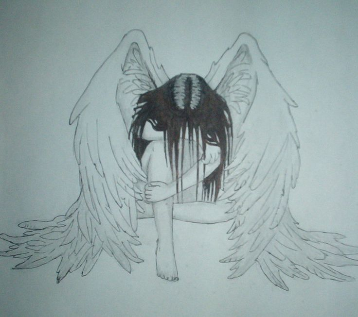 sad angel drawing - Google Search                                                                                                                                                                                 More