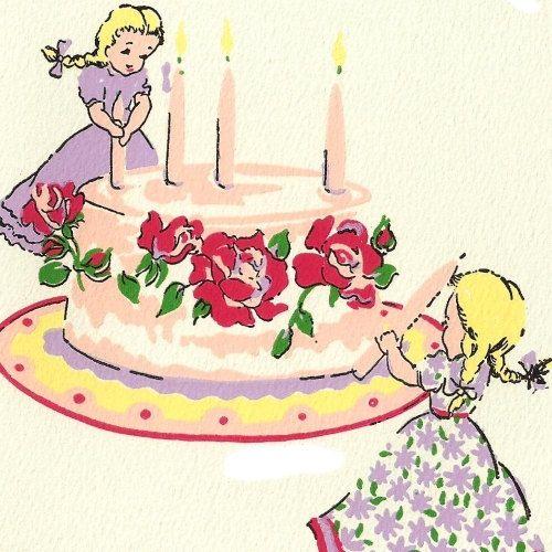 17 Best Ideas About Vintage Birthday Cakes On Pinterest