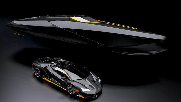 Officina Armare Design has unveiled a luxe day cruiser, the that mirrors the Lamborghini Centenario Roadster in both beauty and brawn. Lamborghini Aventador, Lamborghini Concept, Luxury Yachts, Luxury Cars, Lamborghini Centenario, Yacht Boat, Super Yachts, Speed Boats, Led Headlights