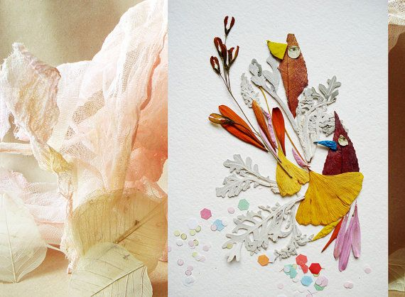 Fancy handmade card Bird card Paper handmade by FloralCollage