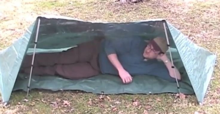 How To Build A Survival Tarp Shelter In 2 Minutes