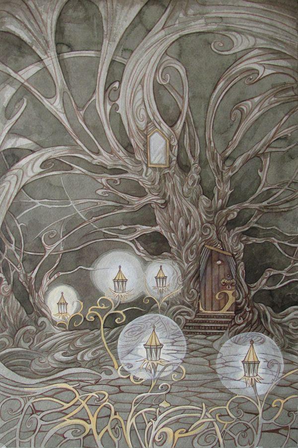 Tree House Ii By Yanadhyana Fairy Elf Landscape Location