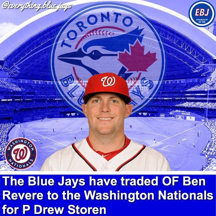 The Blue Jays have traded OF Ben Revere to the Washington Nationals for P Drew Storen. Storen recorded a (2-2) record in 2015 posting a 3.44 ERA. He will add plenty of bullpen depth to the Blue Jays. The 28 year old has spent his whole career with the Nationals he has been a reliever his whole career and will definitely be apart of the Blue Jays bullpen. Ben Revere was acquired by the Blue Jays last summer. He played 56 games for the Blue Jays hitting .319 and hit 19 RBI's. Revere will…