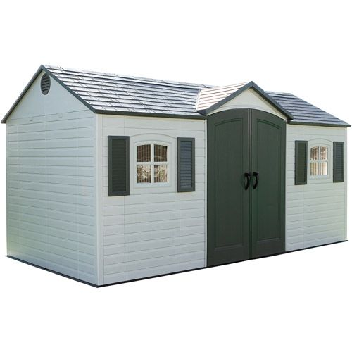 Lifetime Side Entry Shed, Plastic Outdoor Storage Shed, 15' x 8', Lifetime Storage Shed