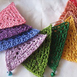 crochet pennant garland