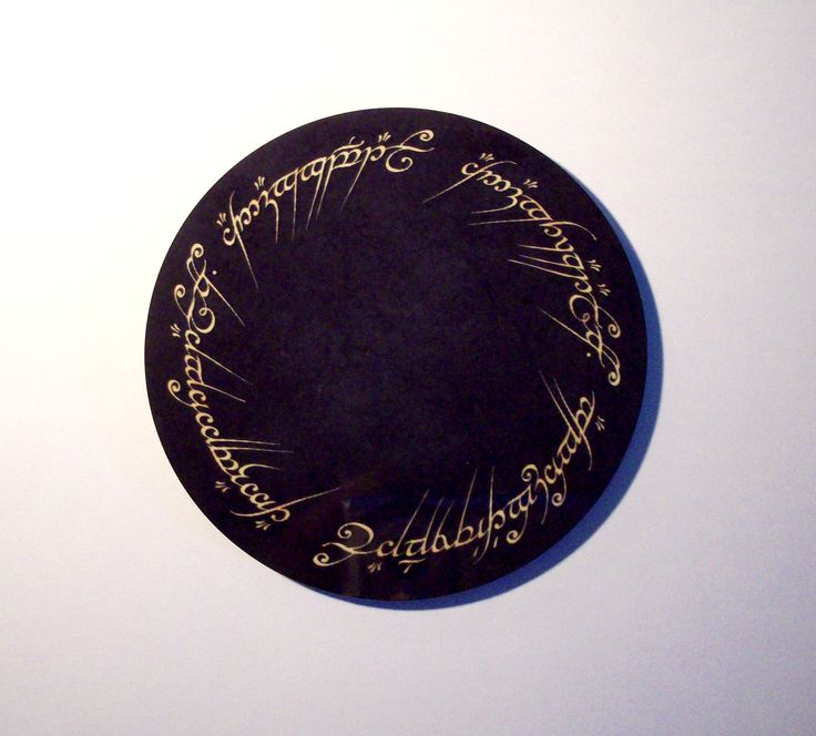 One Right To Rule Them All One Ring To Find Them One: Tolkien One Ring To Rule Them All Coaster By GelertDesign