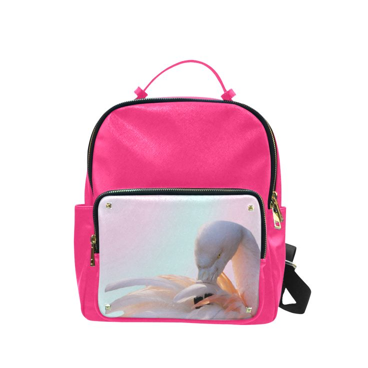 Flamingo Pink Mint Campus backpack/Large. FREE Shipping. FREE Returns. #lbackpacks #flamingos