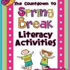 Are you and your students counting down the days until SPRING BREAK?  If so, I think you'll love this product!  These literacy activities can interject some serious learning fun into the week before spring break. ($)