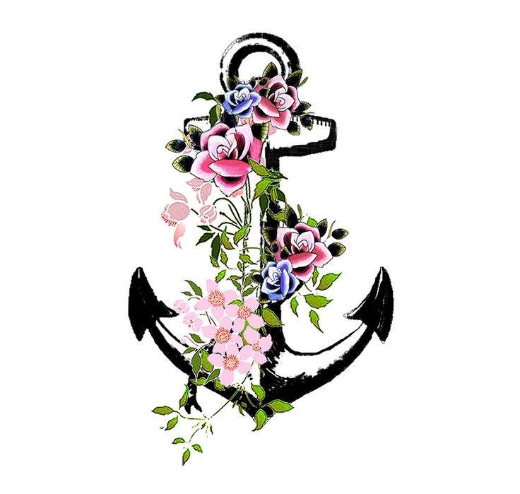 Vintage Anchor Temporary Tattoo High Quality Die Cut Transfer (2.49 GBP) by Inkweartattoos
