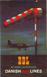 Vintage DDL Danish Airlines Poster