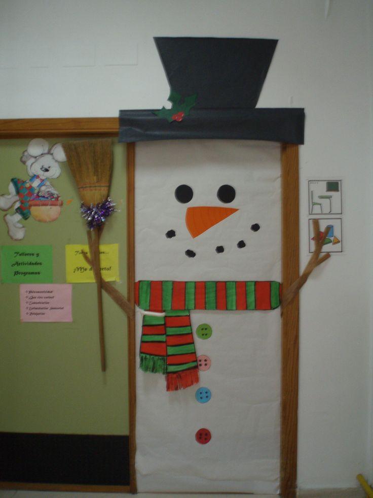 Puerta aula 3 navidad mis creaciones pinterest for Puertas decoradas navidad material reciclable