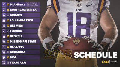 LSU Announces 2018 Football Schedule - LSUsports.net - The Official Web Site of LSU Tigers Athletics