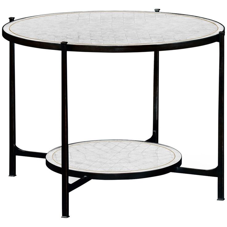 Jonathan Charles Transitional Iron Centre Table