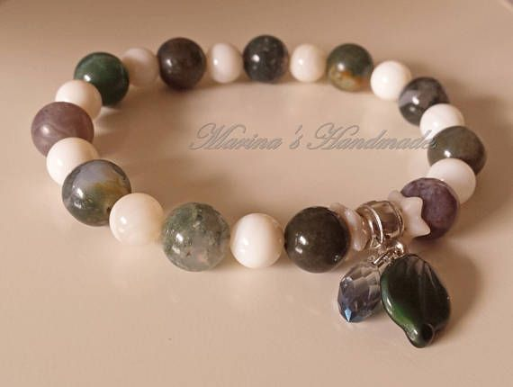 Gift for mom Green Jasper stone Bracelet Fancy Jasper stone