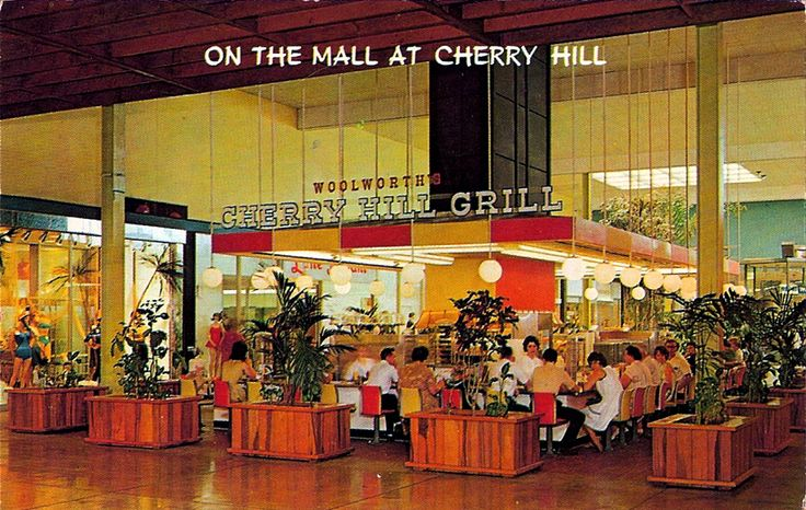 Cherry Hill Mall, New Jersey circa 1961 #Woolworths #Woolworth