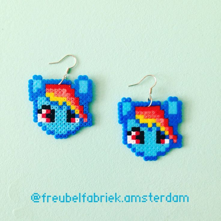 My Little Pony Rainbowdash earrings.
