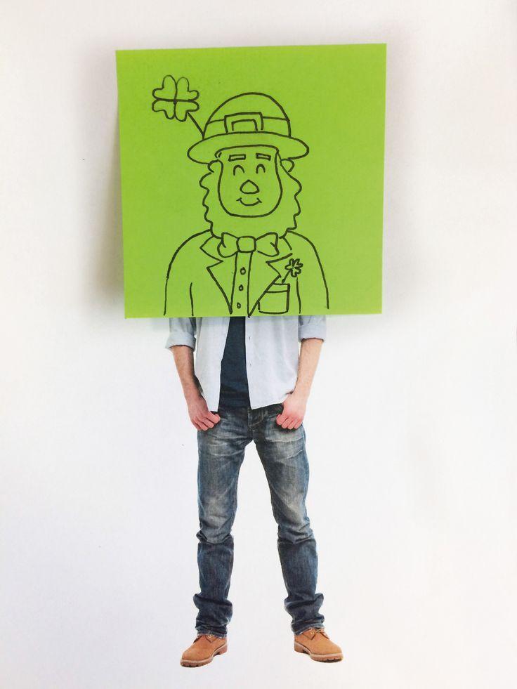 """Check out my @Behance project: """"Saint Patrick Sticky Note Celebration"""" https://www.behance.net/gallery/50274503/Saint-Patrick-Sticky-Note-Celebration"""