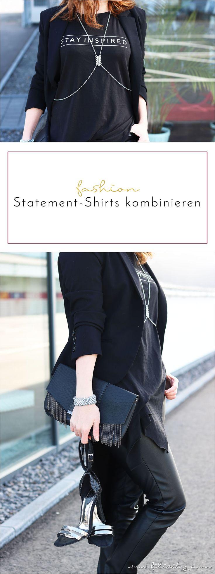 Botschaft übermitteln ganz ohne Worte: Statement-Shirts sind wieder voll im Trend. So kombiniert ihr die modischen Hingucker stilsicher.