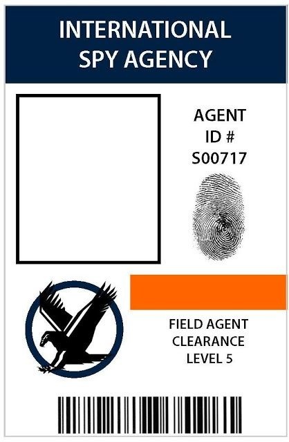 Spy id badge vbs pinterest for Spy id card template