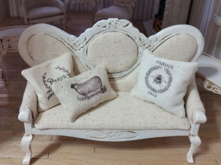 miniature sofa makeover