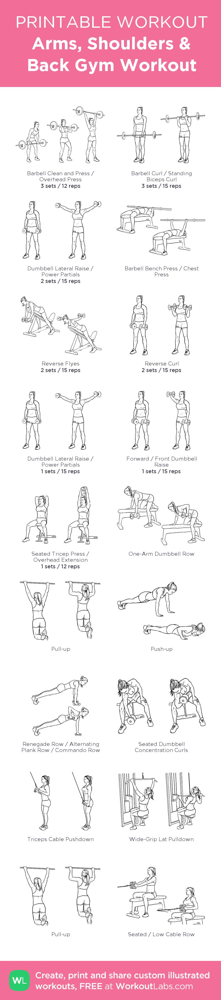 Arms, Shoulders & Back Gym Workout