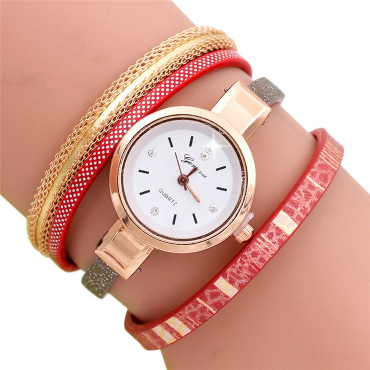 Louise Hot Selling Fashion Wave Point Analog Quartz Watch Women Leather Band Watch Bracelet Watch horloges vrouwen Montre Femme #women, #men, #hats, #watches, #belts, #fashion, #style