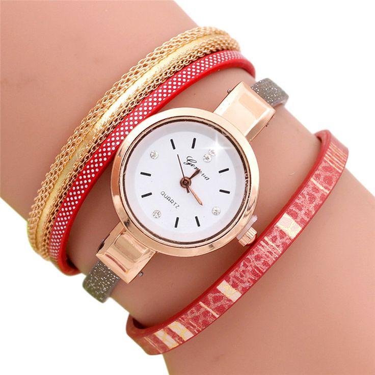 Луиза Горячий Продавать Мода Волновой Точки Аналоговый Кварцевые Часы Женщины Кожаный Ремешок Часы Браслет Часы horloges vrouwen Montre Femme #jewelry, #women, #men, #hats, #watches, #belts, #fashion