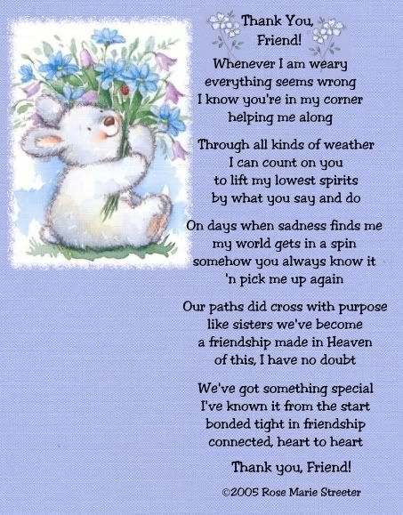 Friendship...always here for you Sherry