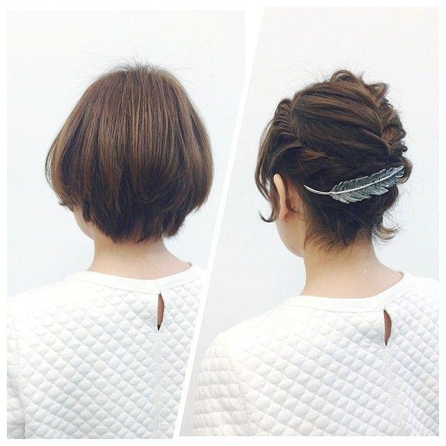 「簡単!真似したくなるショートヘアアレンジ♡」に含まれるinstagramの画像|MERY [メリー]