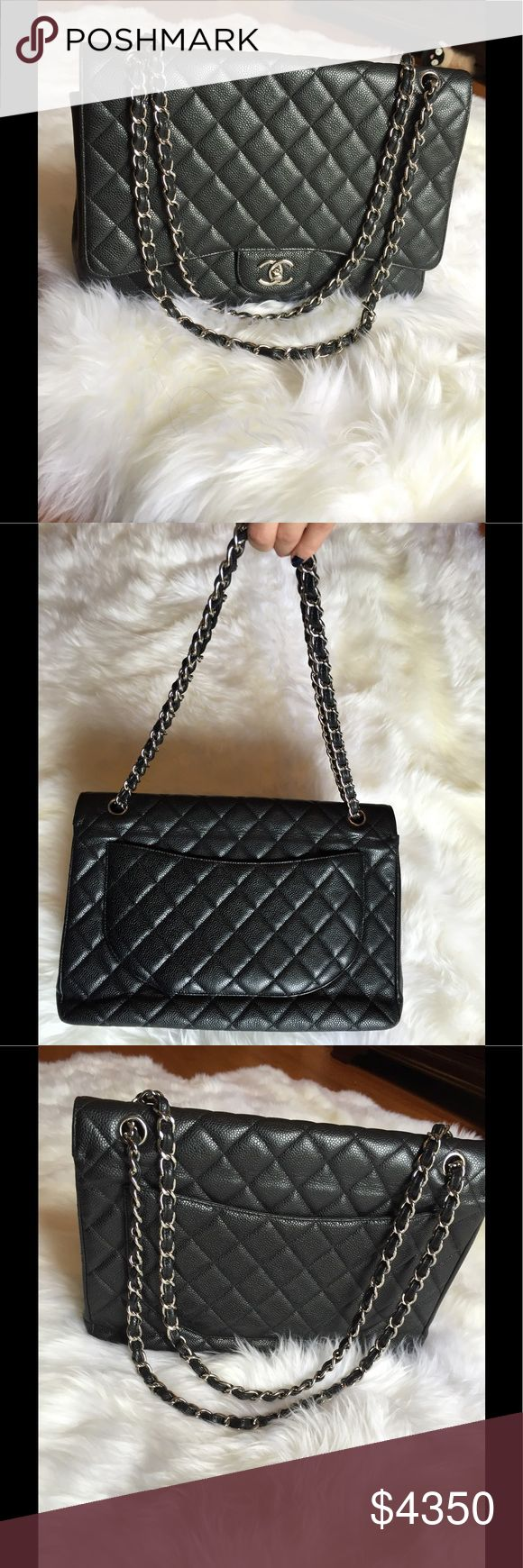 Authentic Chanel single flap bag Pre loved in great condition.Come with dust bag and authenticity card.No box.Maxi single flap bag.Price is firm. CHANEL Bags Shoulder Bags