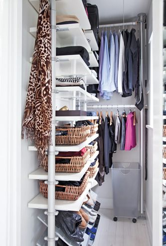 Bea Johnson House - simple closet and wardrobe. More inspiring ideas and photos at this link.