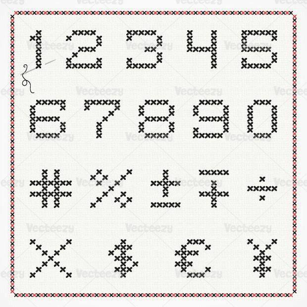 Numeral   simbolos   ponto cruz