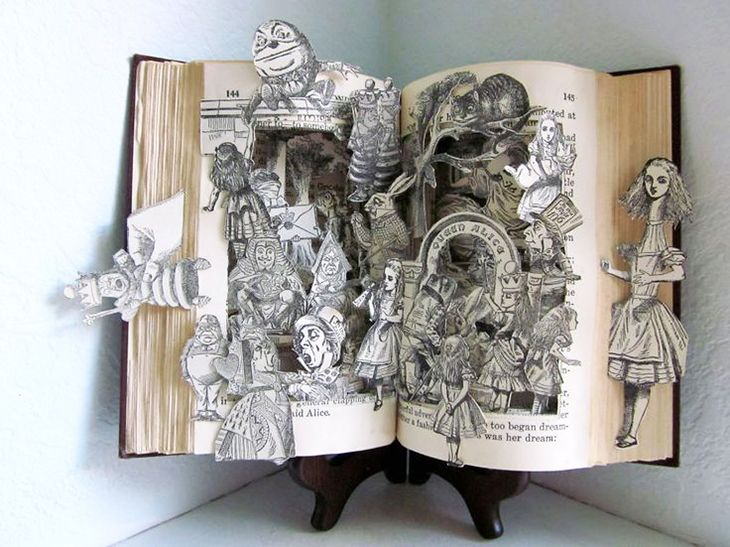 Best Book Art Images On Pinterest Books History And DIY - Amazing artist carves beautiful designs paper