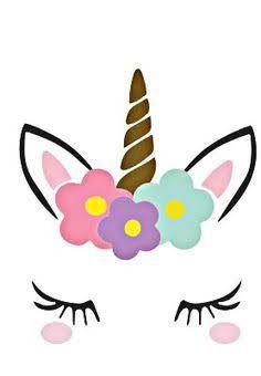 Resultado de imagen para orejas y cuerno de unicornio en pdf para invitaciones