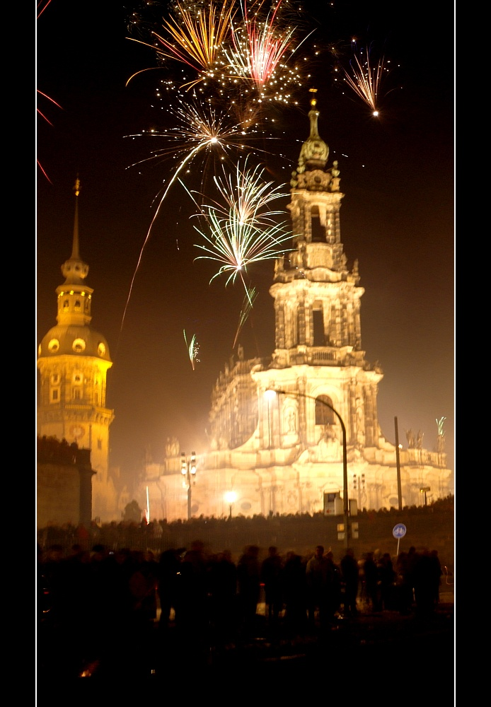 New Years Eve 2012 Day 2013 In Dresden Germany